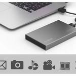 Orico Aluminium 2,5-Zoll-Festplattengehäuse - HHD / SSD - USB 3.0 - 5 Gbps - SATA III - VIA-Chip - Inkl. Schrauben und Schraubenzieher - Dunkelgrau