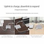 Orico Type C Aluminium Hub avec Power Delivery - 3 x USB3.0 Type A - Mac Style - 5Gbps - 15 CM Câble - Argent
