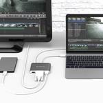 Orico moyeu en aluminium de type C à HDMI, VGA, USB 3.0 USB de type A et de type C - Power Delivery - 5 Gbps - 15CM Câble - Gris