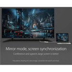 Orico Aluminium Typ C zu HDMI Adapter - 4K Ultra HD - für MacBook, Mi NoteBook Air, Huawei MateBook und Lenovo YOGA - Mac Style - 15CM Kabel - Silber