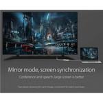 Orico Aluminium Type-C naar HDMI Adapter – 4K Ultra HD – voor MacBook, Mi NoteBook Air, Huawei MateBook en Lenovo YOGA – Mac Style – 15CM Kabel – Zilver