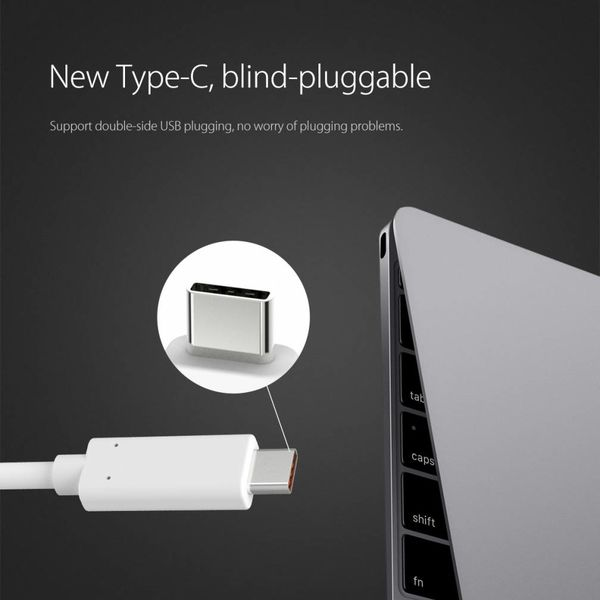 Orico Aluminum Type-C to HDMI Adapter - 4K Ultra HD - for MacBook, Mi NoteBook Air, Huawei MateBook and Lenovo YOGA - Mac Style - 15CM Cable - Silver
