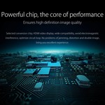 Orico Adaptateur aluminium Type-C vers HDMI - 4K Ultra HD - pour MacBook, Mi NoteBook Air, Huawei MateBook et Lenovo YOGA - Style Mac - Câble 15CM - Argent