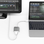 Orico Adaptateur aluminium Type C vers HDMI - 4K Ultra HD - pour MacBook, Mi NoteBook Air, Huawei MateBook et Lenovo YOGA - Style Mac - Câble 15CM - Gris