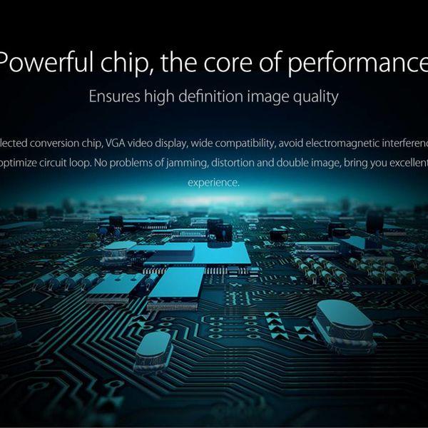 Orico Type C Aluminium adaptateur VGA - Full HD - pour MacBook Air Mi NoteBook, Huawei Maté Facebook et Lenovo YOGA - Mac Style - 15CM Câble - Argent