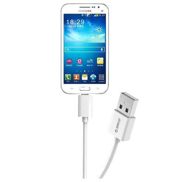 Orico 1 Meter Micro USB charging cable - Fast Charge and Data Cable - 1M - White