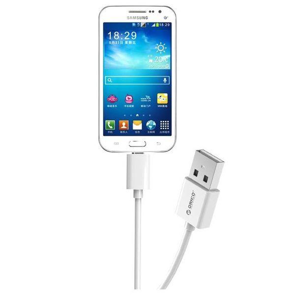 Orico 1 mètre Micro câble de charge USB - Charge rapide et câble de données - 1 M - Blanc