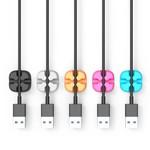 Orico Fünf Mehrzweckkabelclips in verschiedenen Farben - 3M - Kabel bis zu 5 mm dick - Kabelmanagement