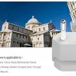 Orico Wereld Reislader met 4x USB3.0 Poorten - Incl. EU/UK/AUS opzetstekkers - 34W - Wit