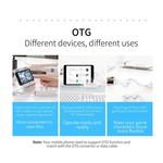 Orico USB3.0-Hub mit 4 USB 3.0 Typ A Ports - 5 Gbps - 100CM Datenkabel - OTG-Funktion - für Windows, Linux und Mac OS - schwarz