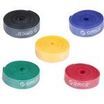 Orico Wiederverwendbare Kabel - Multicolor Satz von fünf - in blau, rot, schwarz, gelb und grün - 1M lange jeder - kürzbar