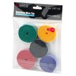 Orico Câble réutilisable - multicolore ensemble de cinq - en bleu, rouge, noir, jaune et vert - 1 m de long chacun - peut être raccourcie
