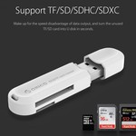 Orico Multifunction USB3.0 Card reader for TF & SD Memory cards - USB stick 2TB - OTG function - 5Gbps - White