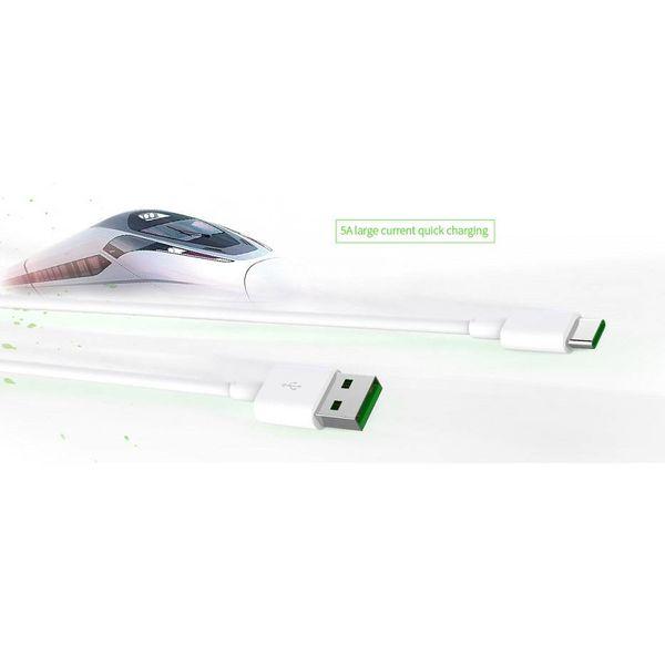 Orico Krachtige Type-C Laadkabel - 5 Ampère - Fast Charge en Synchronisatie - 1 Meter - Wit
