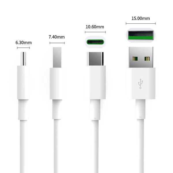 Orico Powerful Type-C Charging Cable - 5 Ampere - Fast Charge and Synchronization - 1 Meter - White