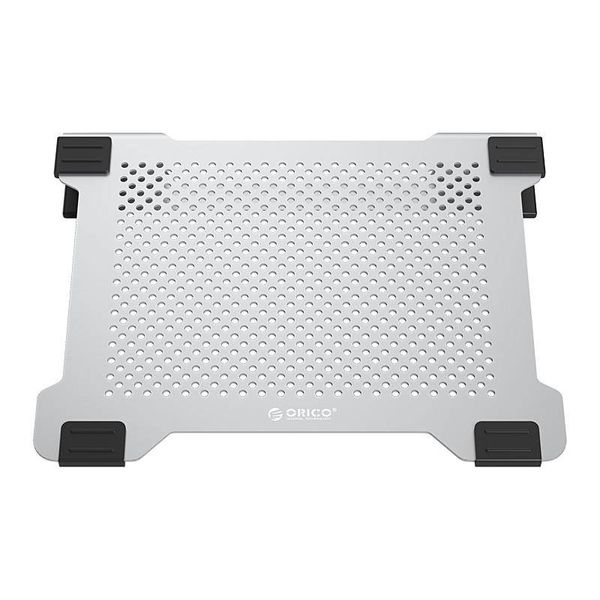 Orico Multifunctional Aluminum Laptop Stand / Cooling Pad - Thermal Conductivity, Cable Management and Ergonomic Posture - for Laptops up to 15 Inch - Mac Style - Silver