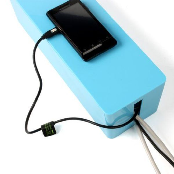 Orico Compact power strip protector - Cable management - Extra safety for Children / Pets - Heat resistant ABS material