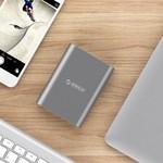 Orico Aluminium Powerbank 10400mAh - Quick Charge 2.0 - LED-indicator - Intelligente Chip - 36W - Sky Grey