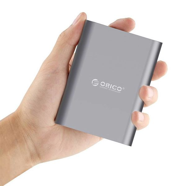 Orico Aluminum Power Bank 10400mAh - Quick Charge 2.0 - LED Indicator - Intelligent Chip - 36W - Sky Gray