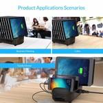 Orico Multi Ladegerät Docking-Station mit 10 Ports - Ladestation für Tablets und / oder Smartphones - 120W - 2,4A / 5V pro Port - Schwarz