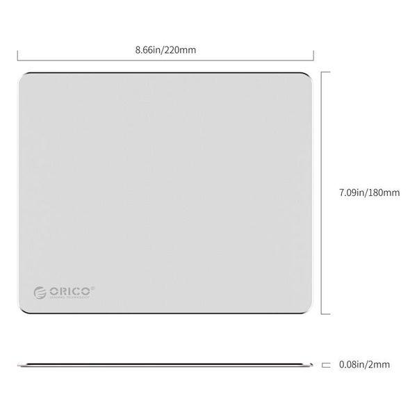 Orico Ultradunne Aluminium Muismat - Geschikt voor alle Computermuizen - 2mm dik - Mac Style - Zilver