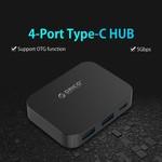 Orico USB3.0 type-C Hub met 2x USB type-A en 2x USB type-C
