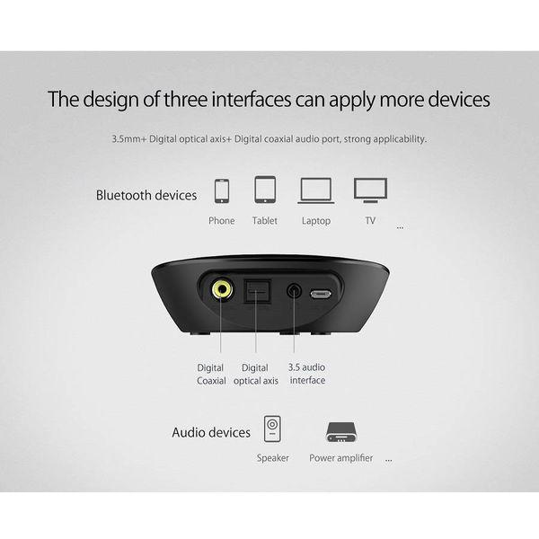 Orico Bluetooth 4.1 Audio Receiver mit 3,5 mm Audioausgang - Spezielle NFC-Funktion - Übertragungsbereich von 10 m - Ein / Aus-Schalter - LED-Anzeige - Schwarz