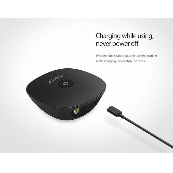 Orico Récepteur audio Bluetooth 4.1 avec sortie audio 3,5 mm - Fonction spéciale NFC - Plage de transmission 10M - Interrupteur marche / arrêt - Indicateur LED - Noir