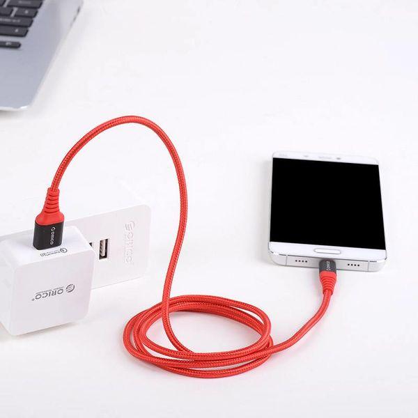 Orico 1 Meter USB Typ-C Daten und Ladekabel - 2.4A - Rot