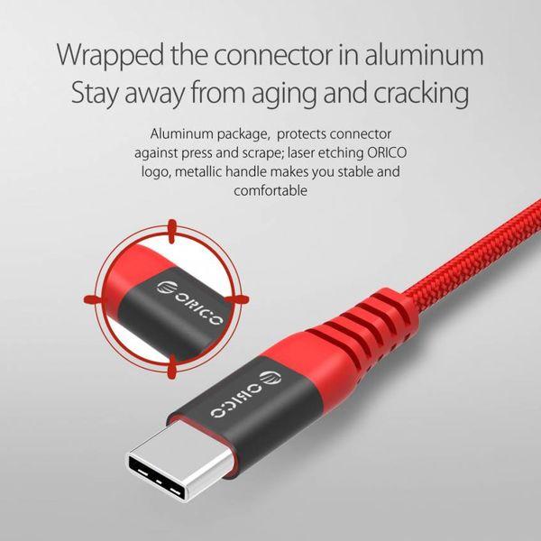 Orico Câble de chargement et de données USB Type-C de 1 mètre - 2.4A - Rouge
