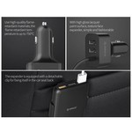 Orico Car charger with 5 USB 3.0 charging ports, 1 with Quick Charge 3.0 - Incl. clip to attach to the backrest - Intelligent Chip - DC12-24V - 52W - black