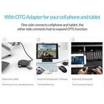 Orico Hub USB 3.0 rond avec 4 ports - Fonction OTG - Noir