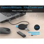 Orico Ronde USB 3.0 hub met 4 poorten - OTG-functie - Zwart