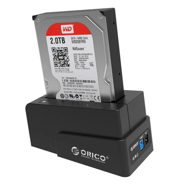 Orico USB 3.0 HDD/SSD Docking Station voor 2.5 en 3.5 Inch SATA harde schijven - Zwart