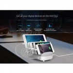 Orico Station d'accueil multi chargeur Station de charge USB 40W 5 ports - Blanc