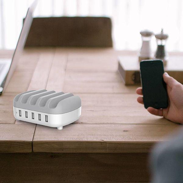 Orico Dockingstation mit mehreren Ladegeräten 40 W USB-Ladestation mit 5 Anschlüssen - Weiß