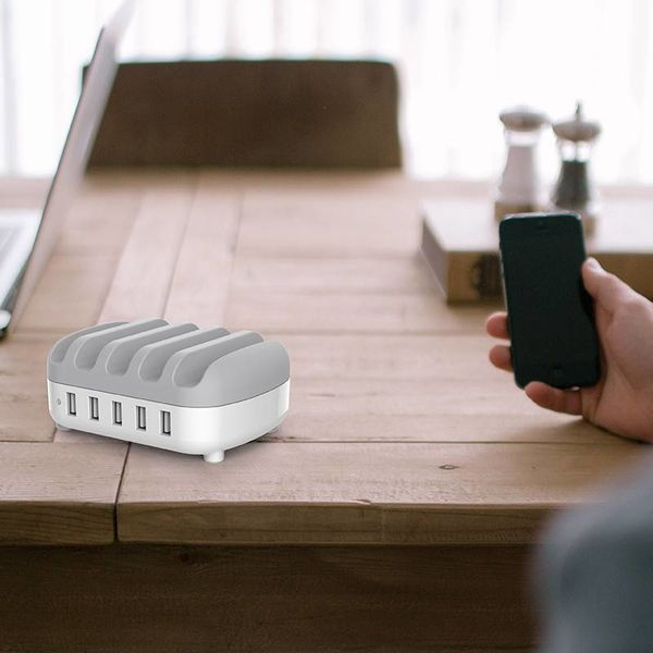 Orico Multi charger docking station 40W 5 Poort USB oplaadstation - Wit
