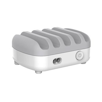 Orico Multi-Ladegerät Dock 40W 5 Port USB-Ladestation - Weiss