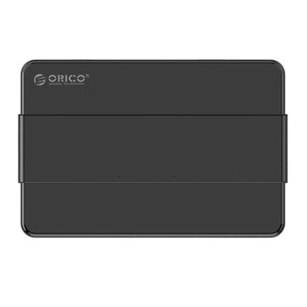 Orico USB 3.0 Hub mit 4 Typ-A-Anschlüssen - 4x LED-Anzeigen - 5 Gbit / s - 100CM USB3.0-Datenkabel - Inkl. 12V-2A Netzteil - für Windows, Linux und Mac OS - Schwarz