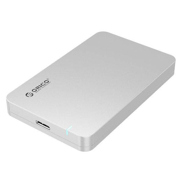 Orico Boîtier de disque dur USB3.0 2,5 pouces - HDD / SSD - Argent