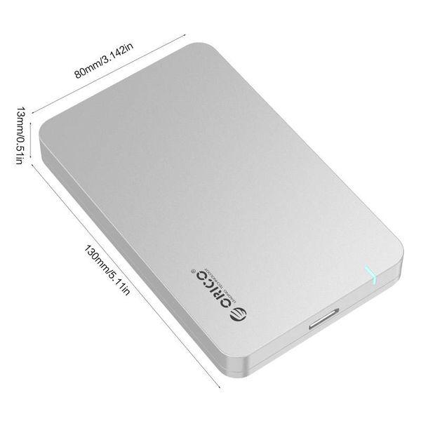 Orico USB3.0 2,5-Zoll-Festplattengehäuse - HDD / SSD - Silber