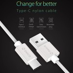 Orico USB Typ C Lade- und Datenkabel - 3A - Geflochtenes Nylon - Aluminium - 1 Meter - Silber