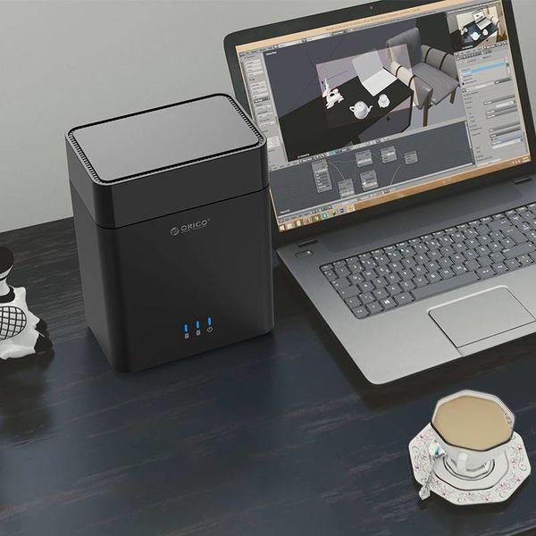 Orico Dual Bay Magnetic-Typ 3,5 Zoll Typ-C-Festplattengehäuse