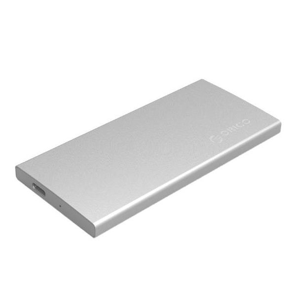 Orico Aluminum Dual Bay M.2 external hard drive enclosure - RAID - Type-C interface -10Gbps - LED indicator - Silver