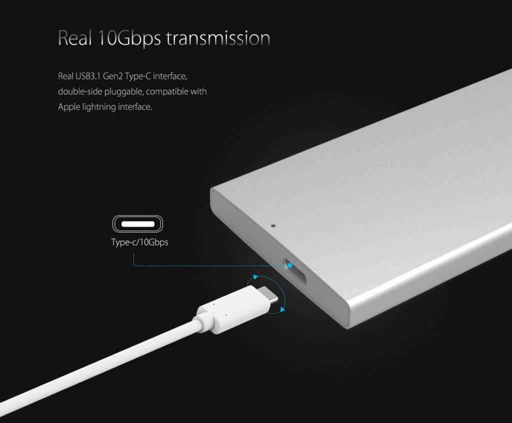 Aluminum Dual-bay 10Gbps M 2 RAID External Hard Drive