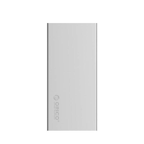 Orico Aluminium Dual Bay M.2 externes Festplattengehäuse - RAID - Typ-C-Schnittstelle -10 Gbit / s - LED-Anzeige - Silber