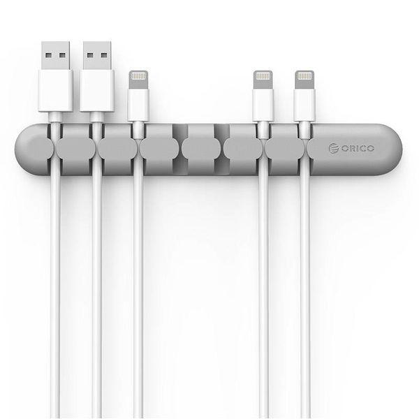 Orico Zelfklevende kabelhouder - organiseer tot 7 kabels van 5mm dik - Grijs