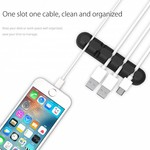 Orico Self-adhesive cable holder - Organize up to 5 cables of 5mm thick - 3M - black