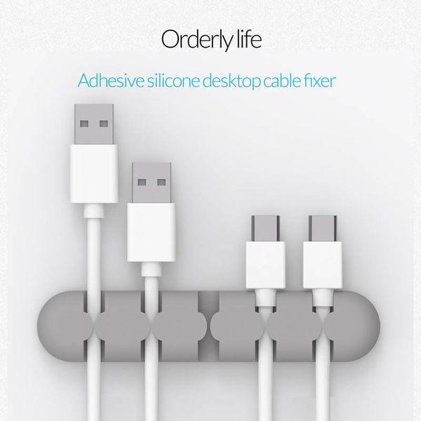 Orico Adhesive Desktop Kabelfixierer - Grau