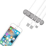 Orico Support de câble autocollant - Organisez jusqu'à 5 câbles de 5 mm d'épaisseur - 3M - gris